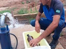 Laboratório para analise de água de poço