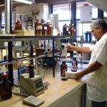 Laboratório de análises de resíduos